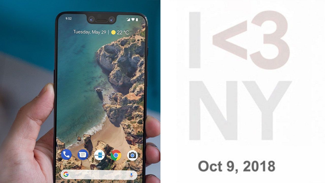 Google chính thức gửi giấy mời tham gia sự kiện ra mắt Pixel 3 và Pixel 3 XL vào ngày 9/10