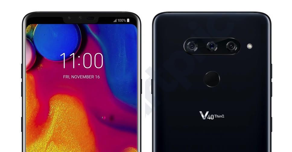 LG V40 ThinQ  lộ diện với 3 camera sau, sẽ chính thức ra mắt vào ngày 4 tháng 10