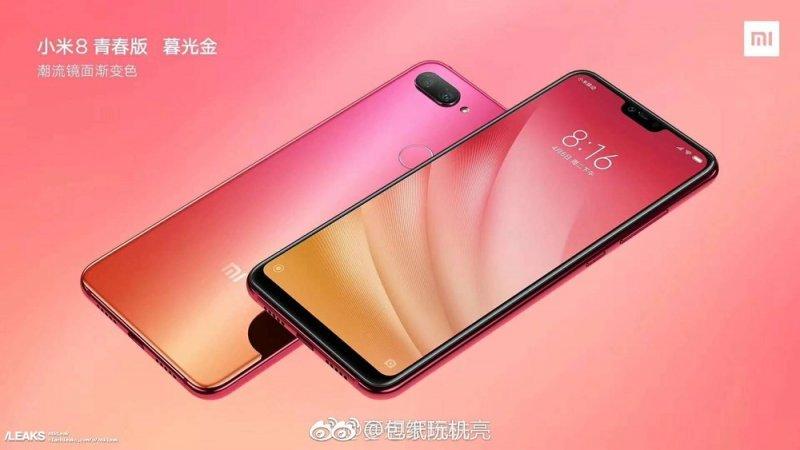 Xiaomi Mi 8 Youth lộ diện với màu mới Fantasy Blue và Twilight Gold, Snapdragon 710, camera kép, giá gần 7 triệu đồng
