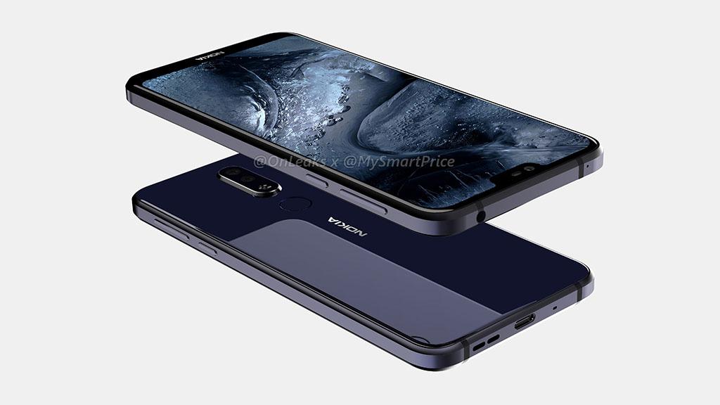 Lộ ảnh render của Nokia 7.1 Plus với màn hình tai thỏ và camera kép