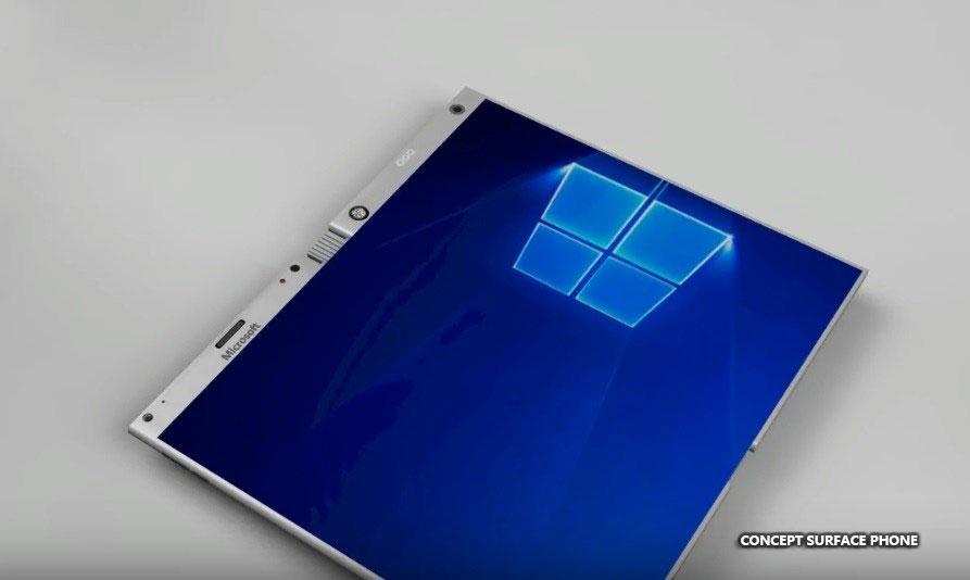 Bằng sáng chế mới của Microsoft cho thấy Surface Phone sử dụng 1 màn hình gập được thay vì 2 tấm riêng biệt