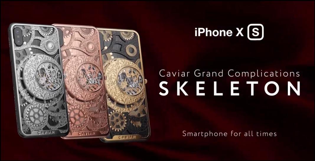 iPhone XS tích hợp đồng hồ skeleton, phiên bản iPhone XS cực độc từ nước Nga, giá từ 6000 USD