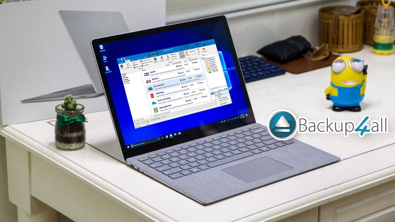 Backup4allStandard 6: Phần mềm sao lưu dữ liệu trên Windows trị giá 40 USD, đang miễn phí bản quyền
