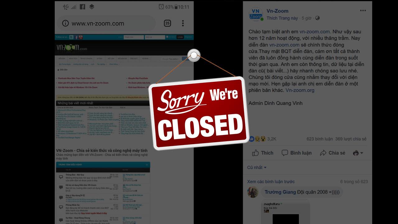 Diễn đàn công nghệ VN-Zoom chính thức đóng cửa sau 12 năm hoạt động