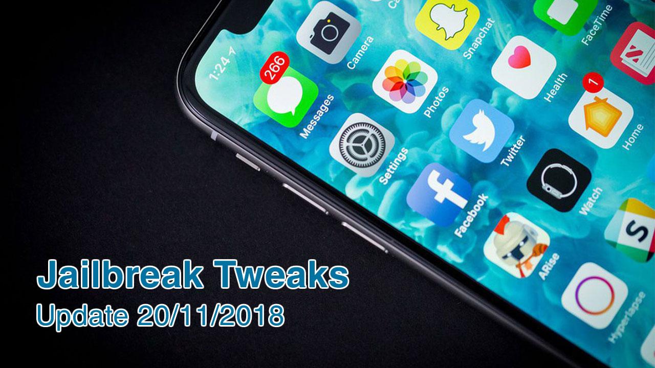 [20/11/2018] Tổng hợp một số tweak mới phát hành trong thời gian gần đây, dành cho thiết bị iOS đã jailbreak