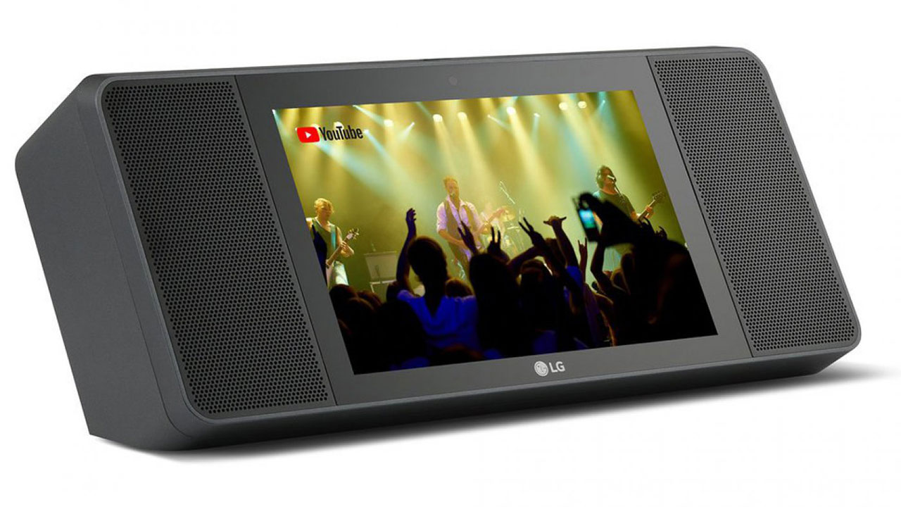XBOOM AI ThinQ WK9: Loa thông minh tích hợp màn hình cảm ứng, có Google Assistant, giá 300 USD