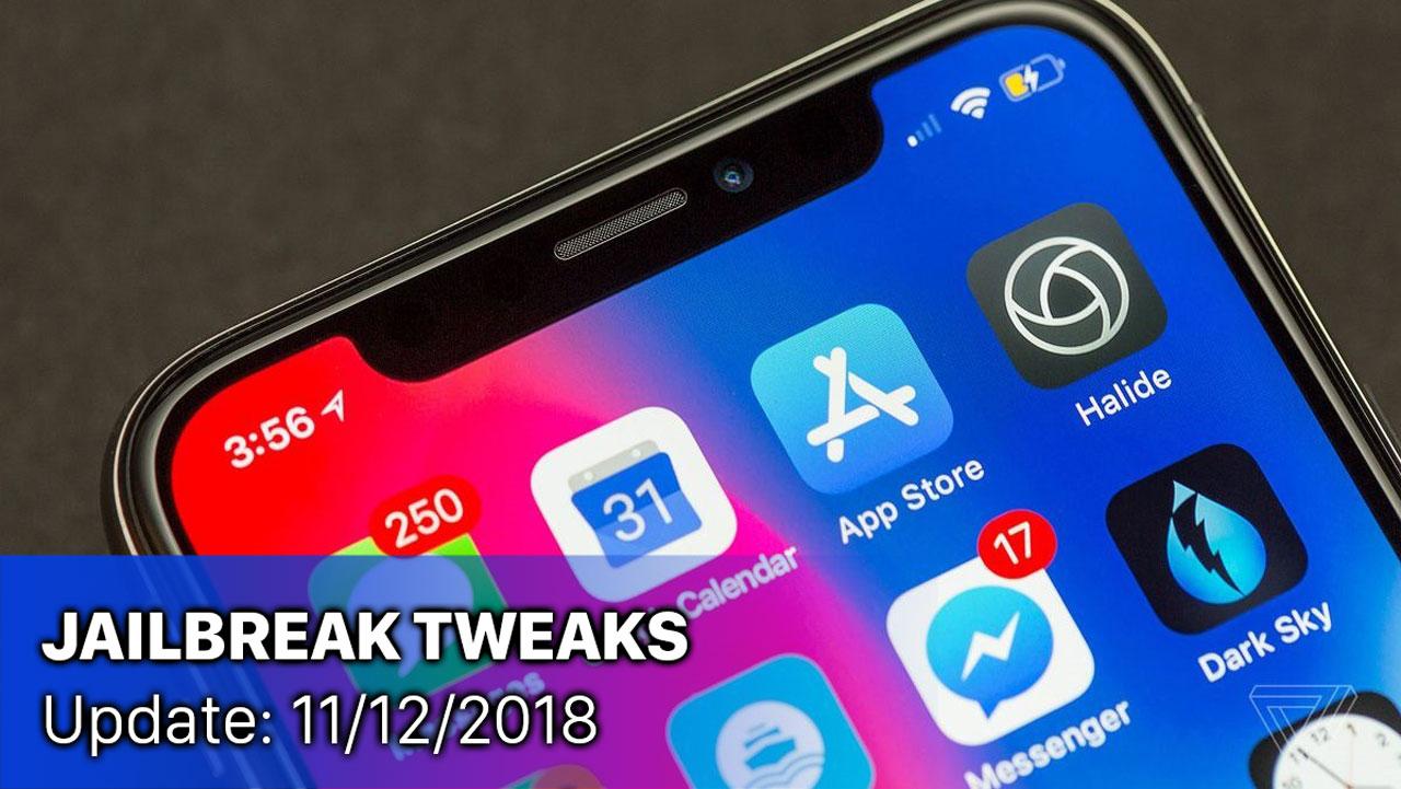 [11/12/2018] Tổng hợp một số tweak mới phát hành trong thời gian gần đây, dành cho thiết bị iOS đã jailbreak