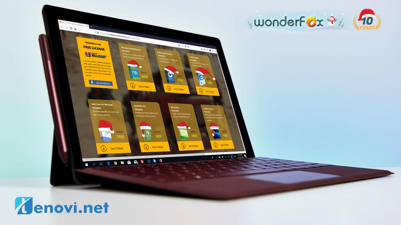 Nhân dịp Giáng sinh WonderFox đang tặng miễn phí bản quyền hàng loạt phần mền giá trị, mời anh em tải về