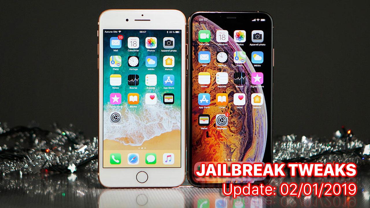 [01/01/2019] Tổng hợp một số tweak mới phát hành trong thời gian gần đây, dành cho thiết bị iOS đã jailbreak