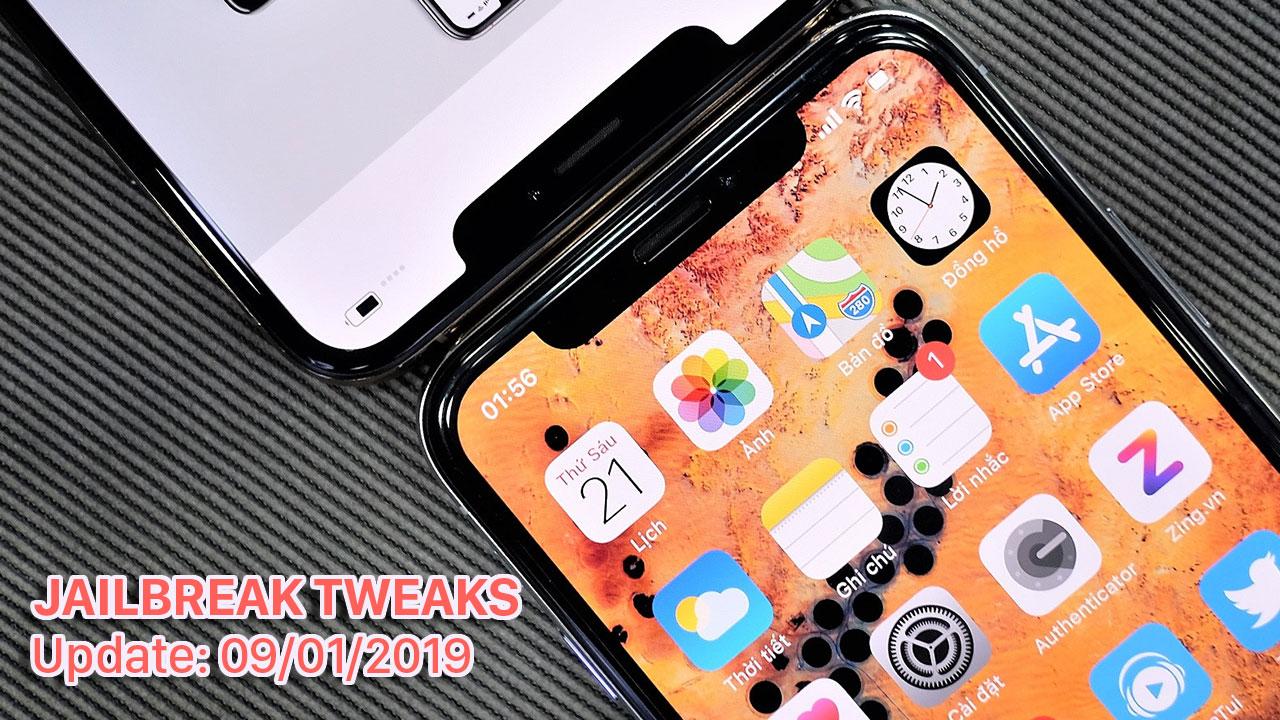 [09/01/2019] Tổng hợp một số tweak mới phát hành trong thời gian gần đây, dành cho thiết bị iOS đã jailbreak