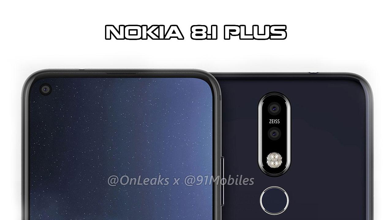 Nokia 8.1 Plus lộ thiết kế hoàn chỉnh với màn hình đục lỗ, camera kép phía sau