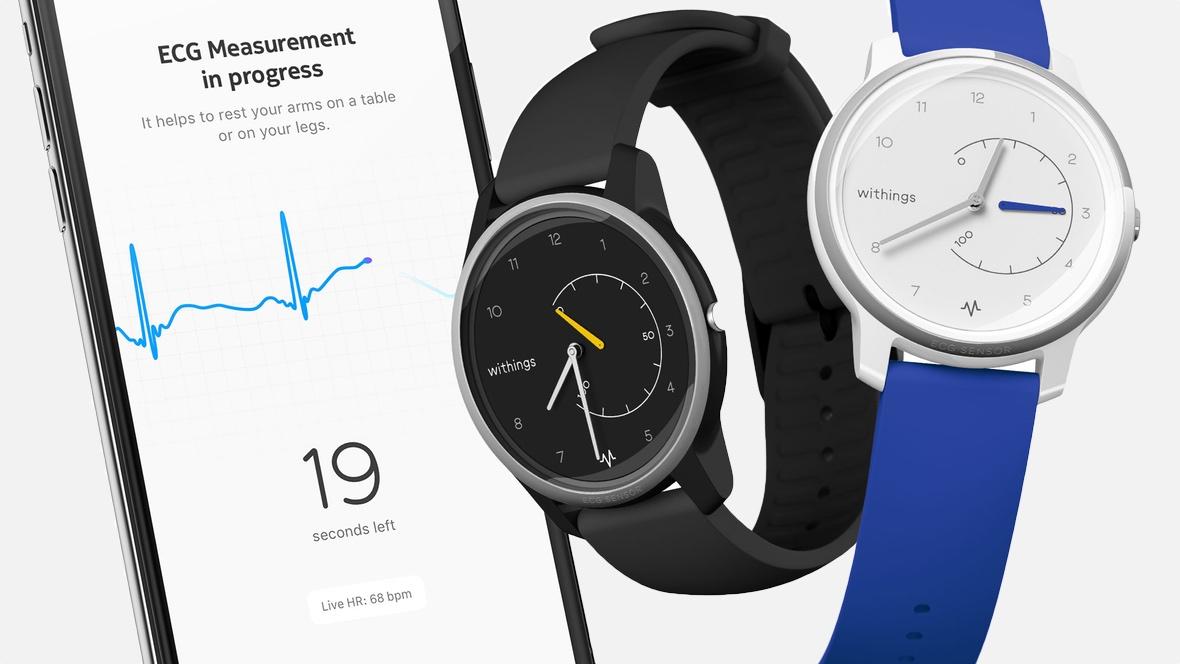 Withings Move ECG: Đồng hồ mới của Withings hỗ trợ tính năng điện tâm đồ (ECG) như Apple Watch series 4