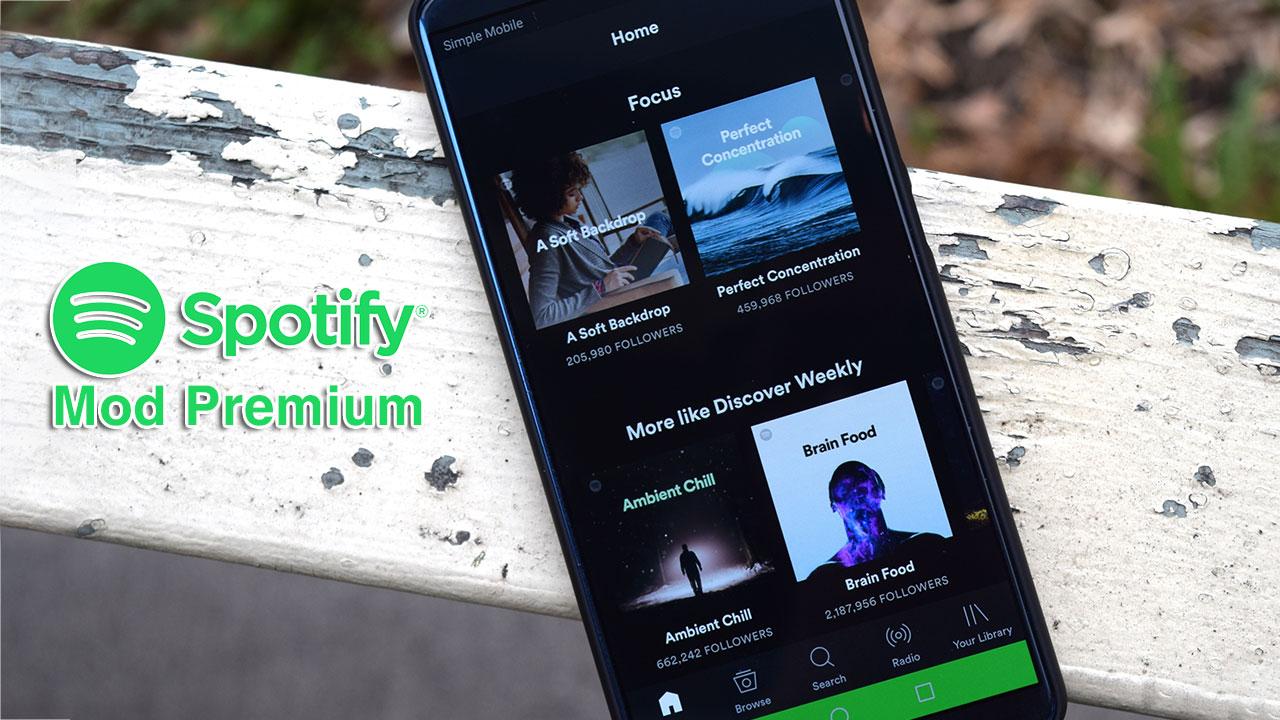 Chia sẻ file APK ứng dụng Spotify phiên bản mới nhất đã mod tính năng tự động chuyển sang tài khoản premium