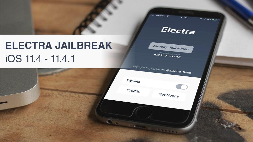 Hướng dẫn cài Electra Jailbreak iOS 11.4 - 11.4.1 và cách khắc phục lỗi crash sau khi nhấn nút Jailbreak trên Electra