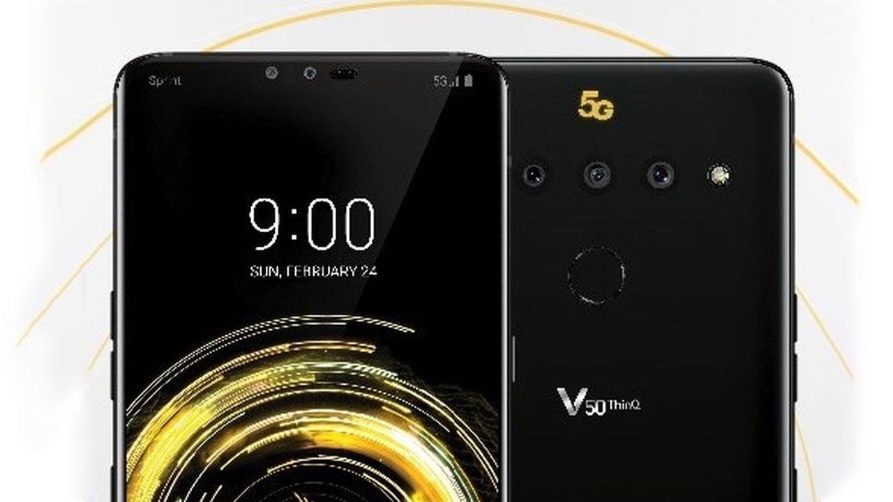 LG V50 ThinQ lộ diện với màn hình tai thỏ, 3 camera sau, hỗ trợ mạng 5G, ra mắt 24/2