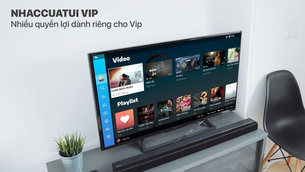 Nhaccuatui TV mod VIP chặn quảng cáo, xem phim, tải nhạc chất lượng cao dành cho smartTV chạy Android TV