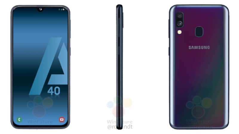 Samsung Galaxy A40 lộ thiết kế với màn hình Infinity-U, 2 camera sau, ra mắt vào ngày 10/4?