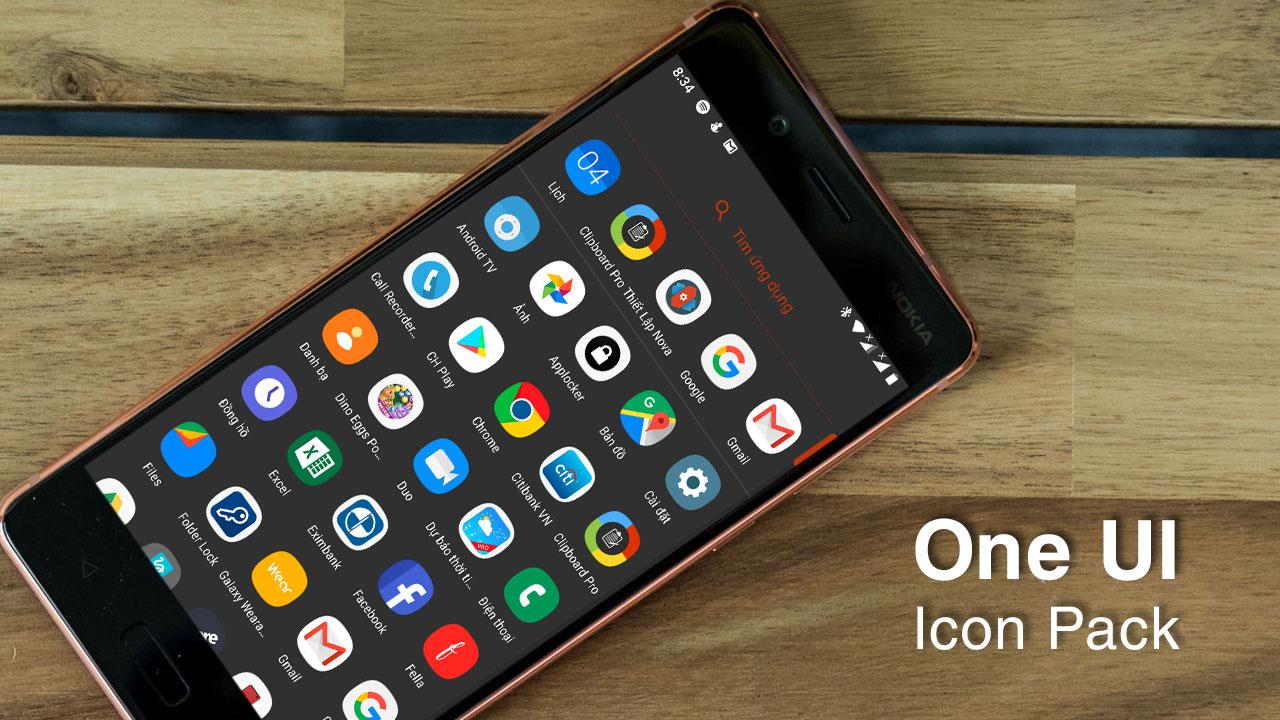 Chia sẻ bộ icon Samsung One UI được trích xuất từ Galaxy S10, và hường dẫn cài đặt lên mọi máy Android
