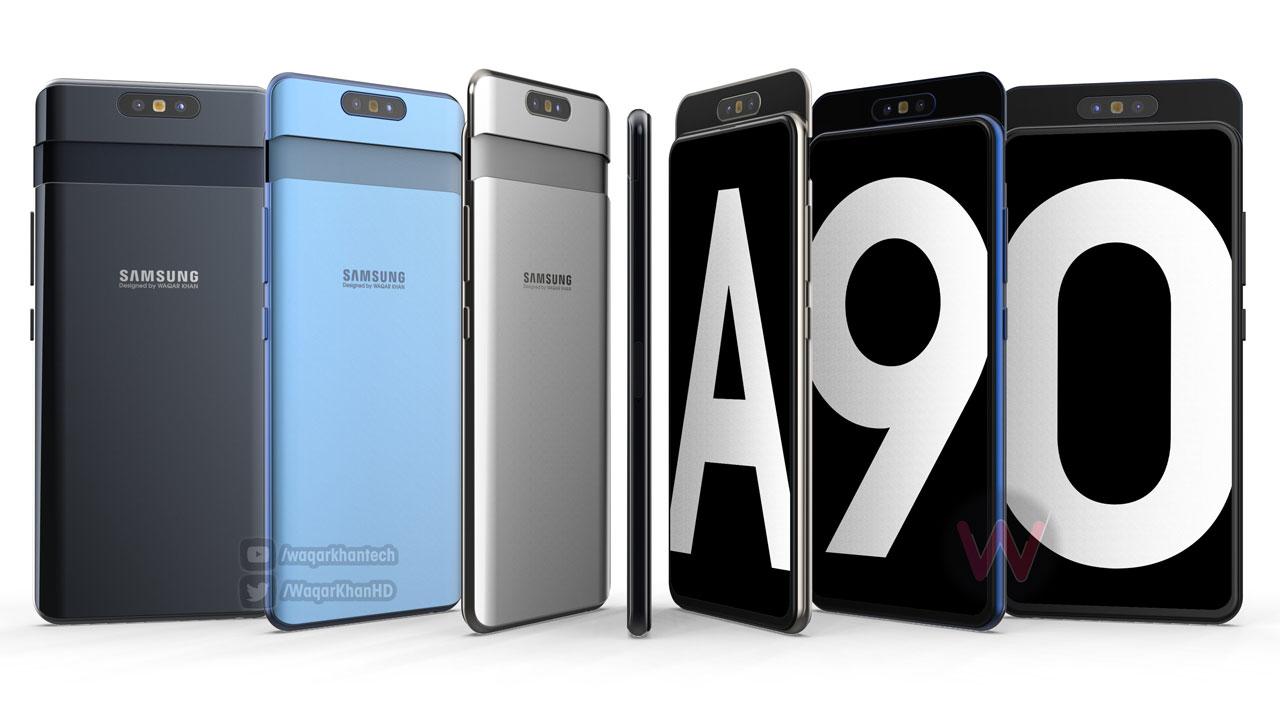 Samsung Galaxy A90 lộ thông số cấu hình với Snapdragon 7150, màn hình 6.7 inch không khiếm khuyết, camera 48MP