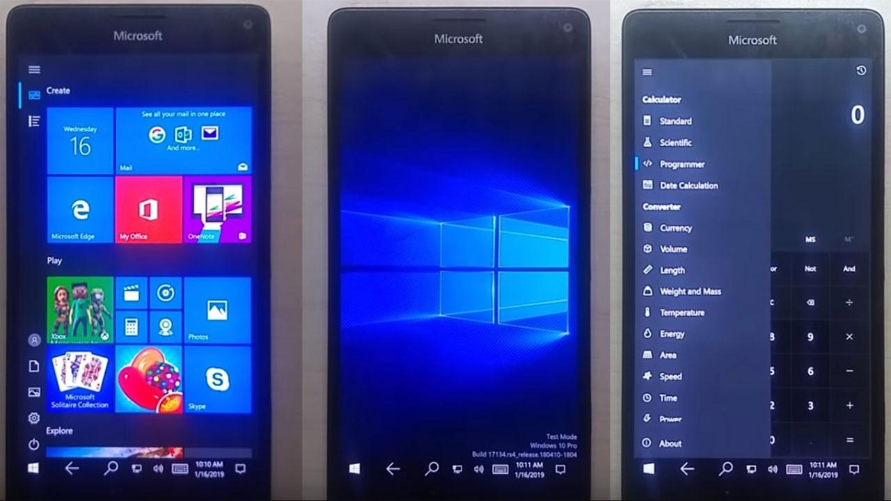 Bước đột phá mới trong việc cài đặt Windows 10 ARM trên Lumia 950 XL