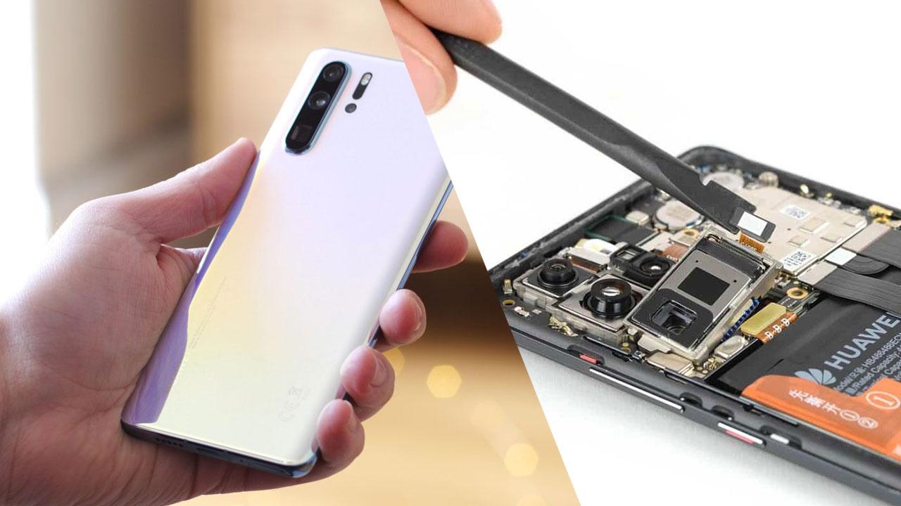 iFixit mổ bụng Huawei P30 Pro, bị đánh giá là khó sửa chữa với mức điểm chỉ là 4/10