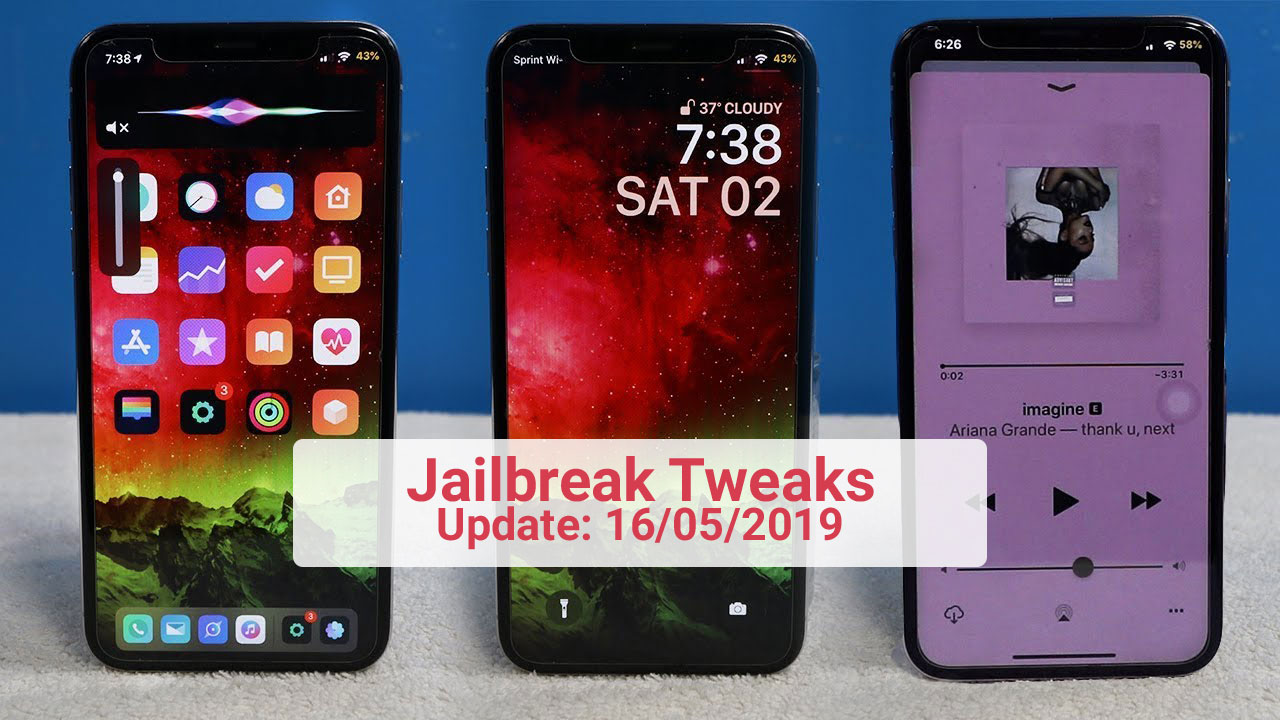 [16/05/2019] Tổng hợp danh sách các tweak nổi bật mới được phát hành dành cho thiết bị iOS đã jailbreak