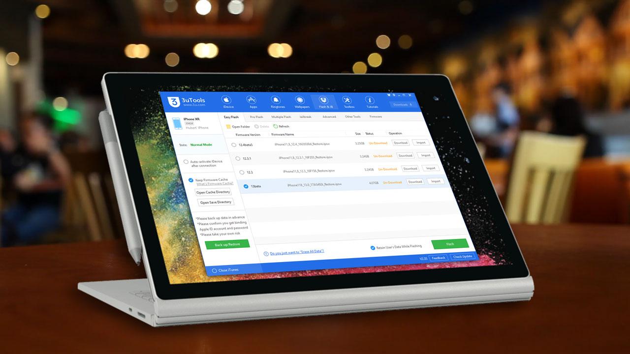 3uTools phát hành bản cập nhật mới, hỗ trợ nâng cấp iOS 13 (beta 1) ngay trên máy tính Windows