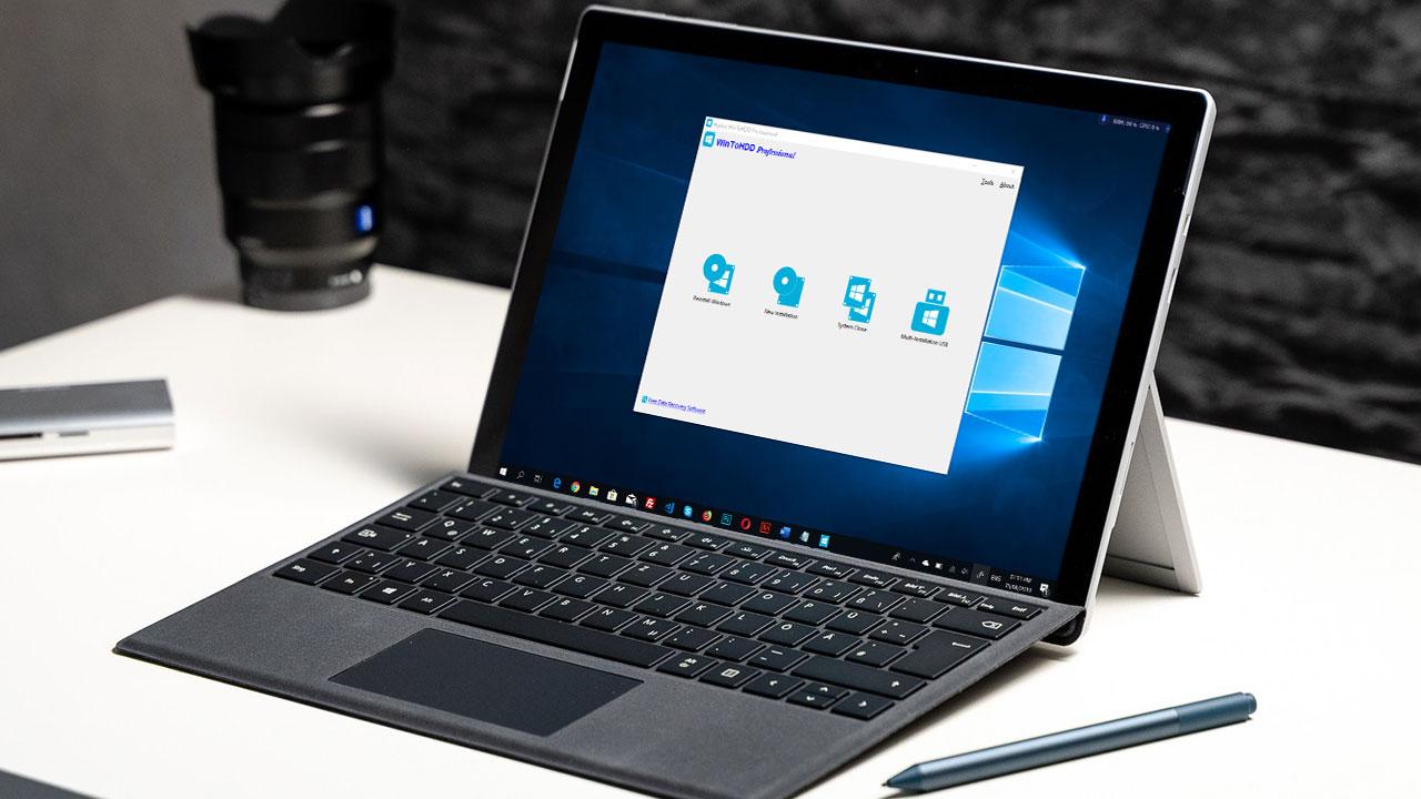 Nhanh tay nhận miễn phí bản quyền WinToHDD Professional phần mềm hỗ trợ cài đặt lại Windows không cần USB, DVD