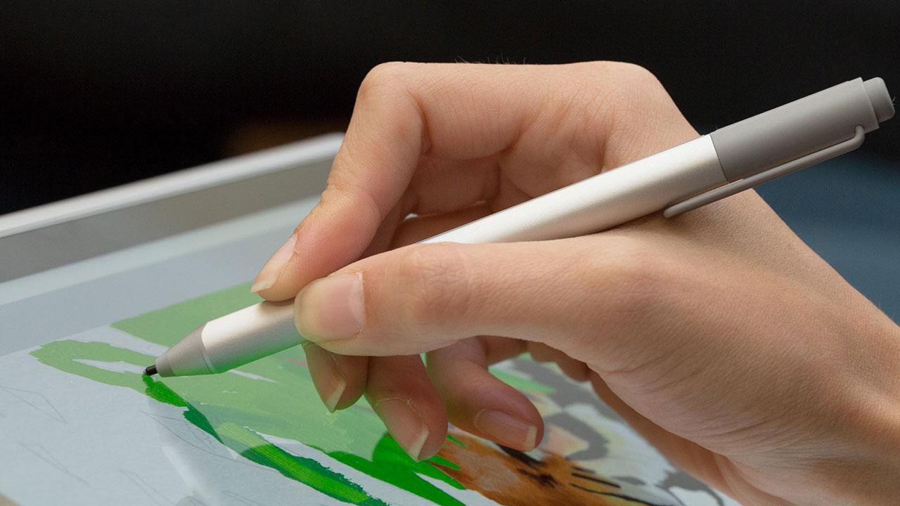 Microsoft đang nghiên cứu loại bút Surface Pen dẻo, có thể uống cong thành tai nghe không dây
