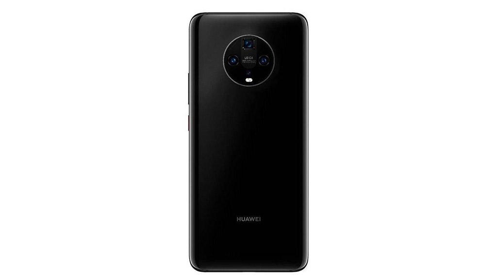 Huawei Mate 30 lộ ảnh render với thiết kế mặt lưng kính, cụm camera sau hình tròn