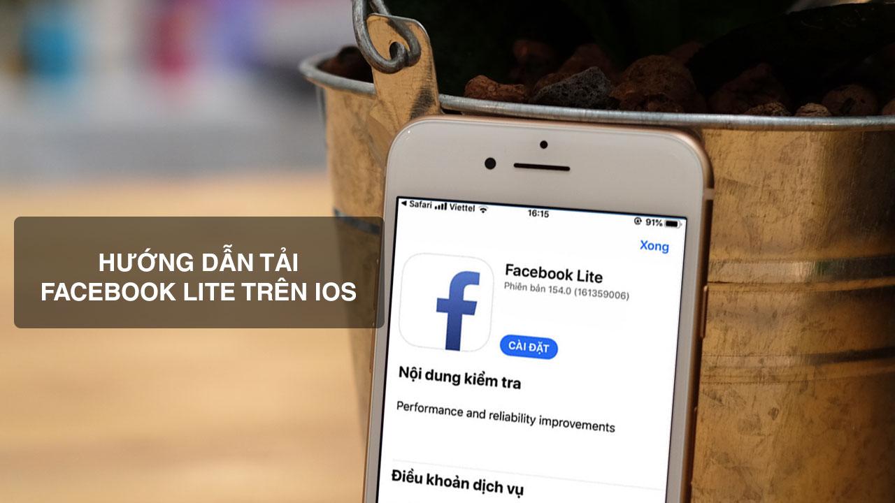 Hướng dẫn tải Facebook Lite trên iPhone, iPad không cần chuyển vùng AppStore