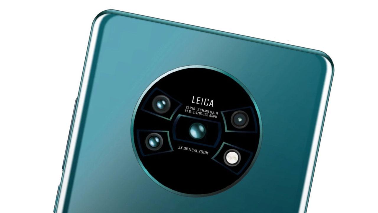 Lộ diện mặt lưng Huawei Mate 30 với thiết kế cụm 4 camera và đèn LED xếp thành chữ X cực ngầu