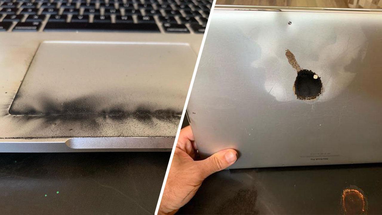 Chiếc MacBook Pro 15 inch đầu tiên gặp sự cố cháy nổ, sau khi Apple thực hiện chương trình thu hồi