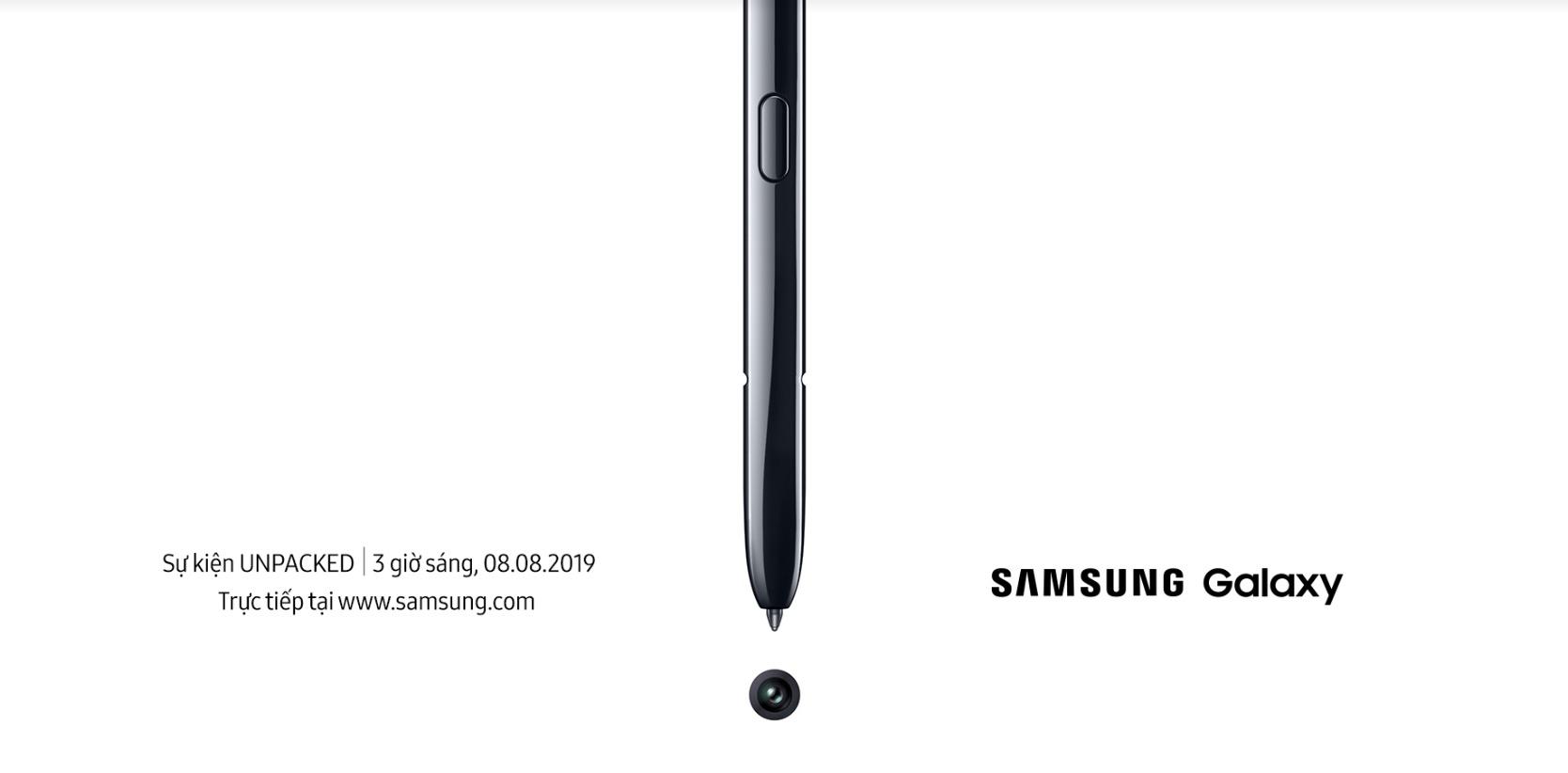 Samsung Mobile Việt Nam gửi thư mời tham gia sự kiện ra mắt Galaxy Note 10