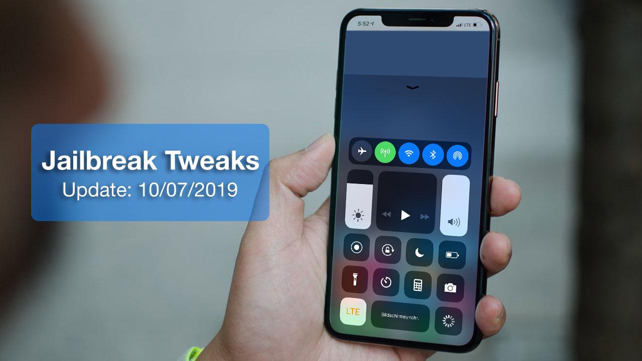 [15/07/2019] Tổng hợp danh sách các tweak nổi bật mới được phát hành dành cho thiết bị iOS đã jailbreak