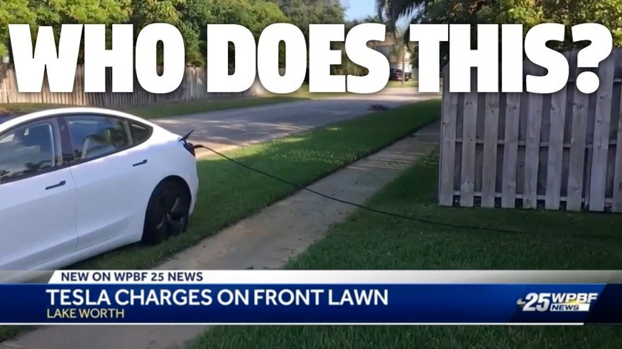 Cặp đôi vô tư đậu xe Tesla trên bãi cỏ nhà người lạ, sạc điện ké suốt 12 giờ liên tục