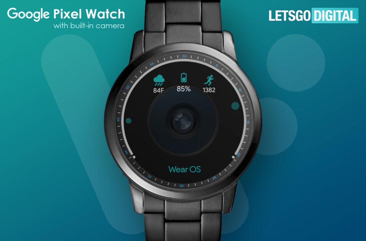 Lộ diện mẫu smartwatch siêu dị của Google với camera đục lỗ ở giữa màn hình?