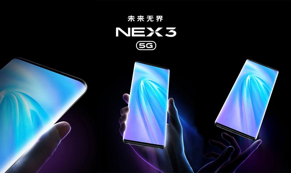 Vivo đăng tải một số hình ảnh và video hé lộ thiết kế màn hình thác nước trên Vivo NEX 3 5G