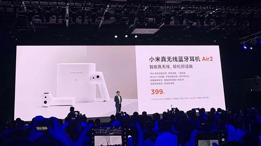 Tai nghe không dây Xiaomi Air 2: Vẫn thiết kế tương tự Apple Airpods, Bluetooth 5.0, chống ồn chủ động, giá chỉ từ 58 USD