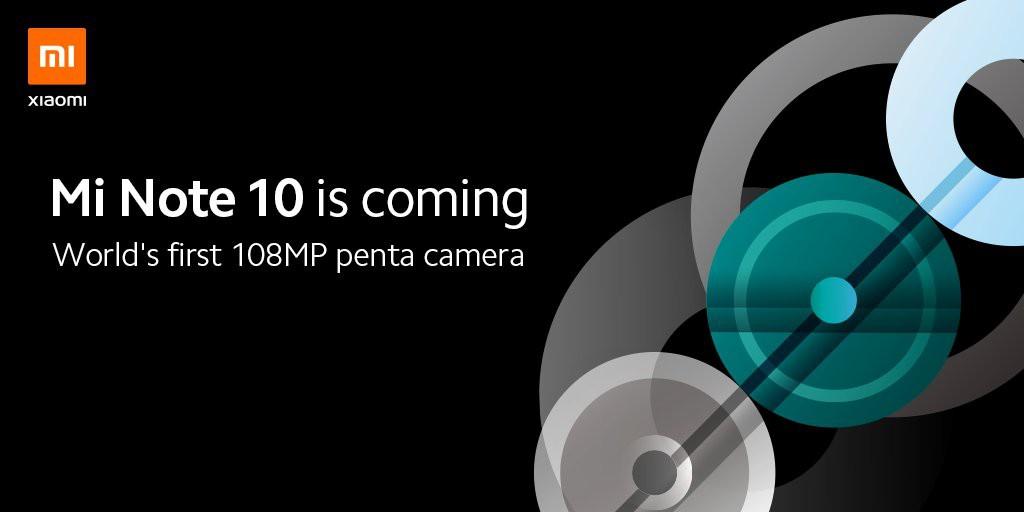 Xiaomi tung teaser xác nhận sẽ ra mắt Mi Note 10 với cụm 5 camera, sử dụng cảm biến khủng 108MP