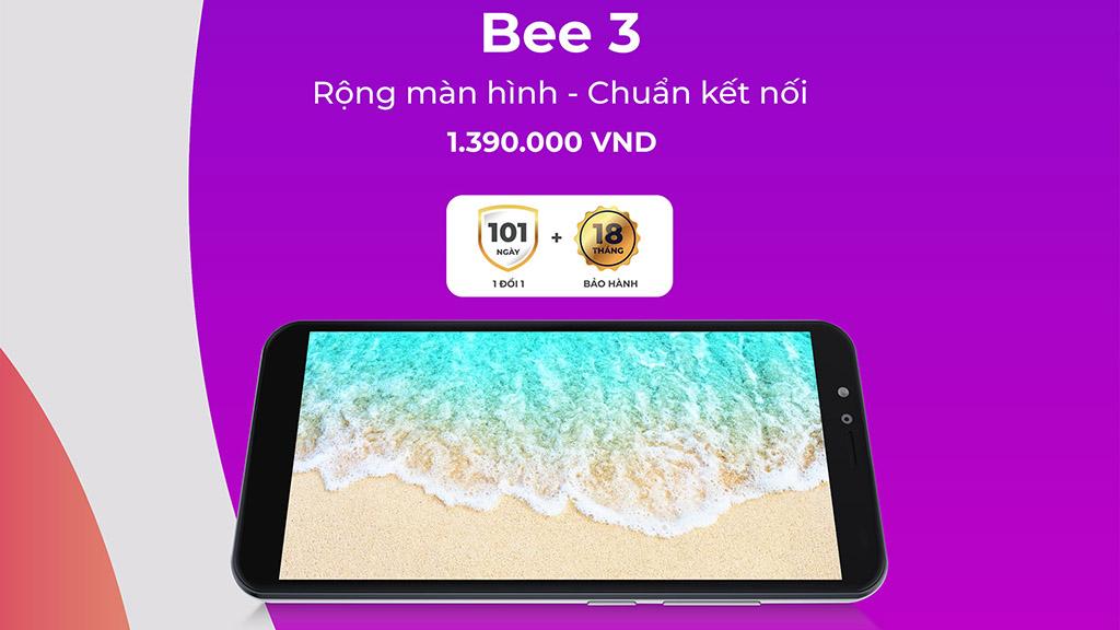 Vsmart Bee 3 chính thức ra mắt: Nâng cấp cấu hình, màn hình lớn hơn, pin 3000mAh, giá 1.39 triệu đồng