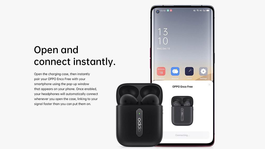 OPPO ra mắt tai nghe True wireless Enco Free  với thiết kế giống AirPods, giá 2.3 triệu đồng