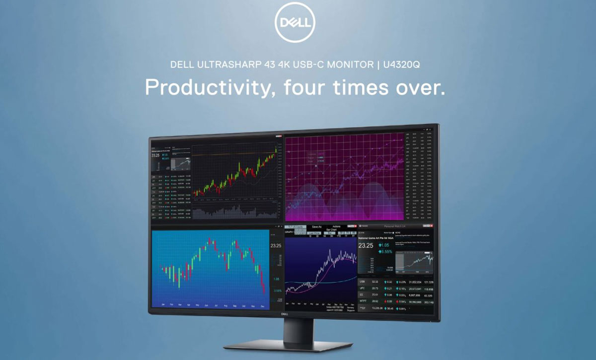 [CES 2020] Dell ra mắt màn hình máy tính 42.5 inch với độ phân giải 4K, giá 24.3 triệu đồng