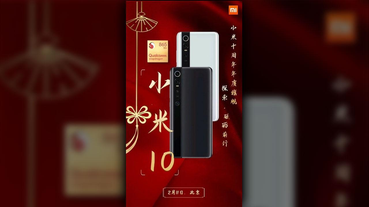 Banner mới của Xiaomi Mi 10 tiết lộ thiết kế, thông tin cấu hình và thời điểm ra mắt