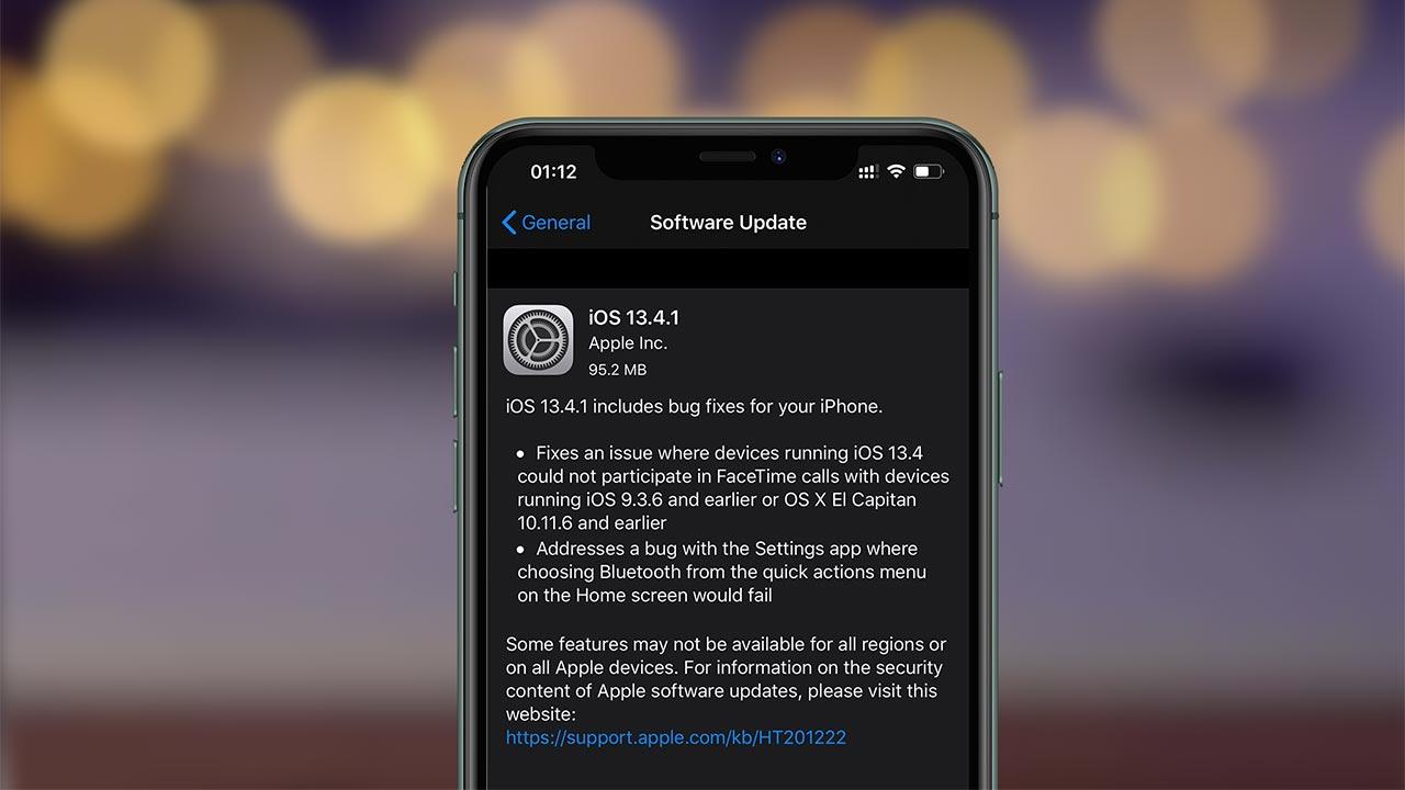 Apple Phát hành bản cập nhật iOS 13.4.1, sửa lỗi quan trọng trên iPhone và iPad