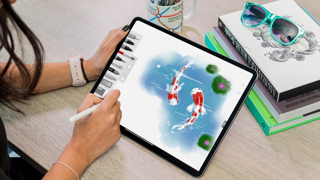 Tayasui Sketches Pro: ứng dụng vẽ tranh theo phong cách màu nước đang miễn phí trên iOS