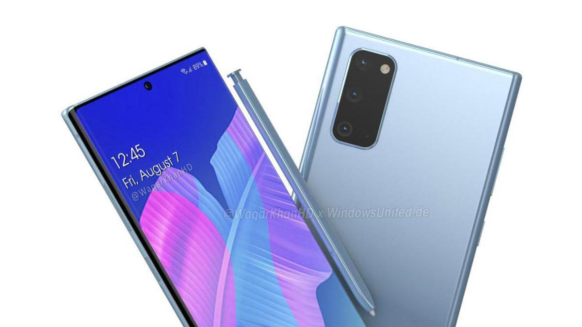 Lộ diện bản phát thảo được cho là của Samsung Galaxy Note 20