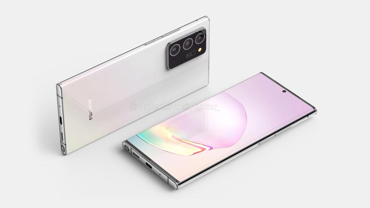 Samsung Galaxy Note 20+ 5G lộ thiết kế hoàn chỉnh, màn hình lớn với kích thước 6,9 inch