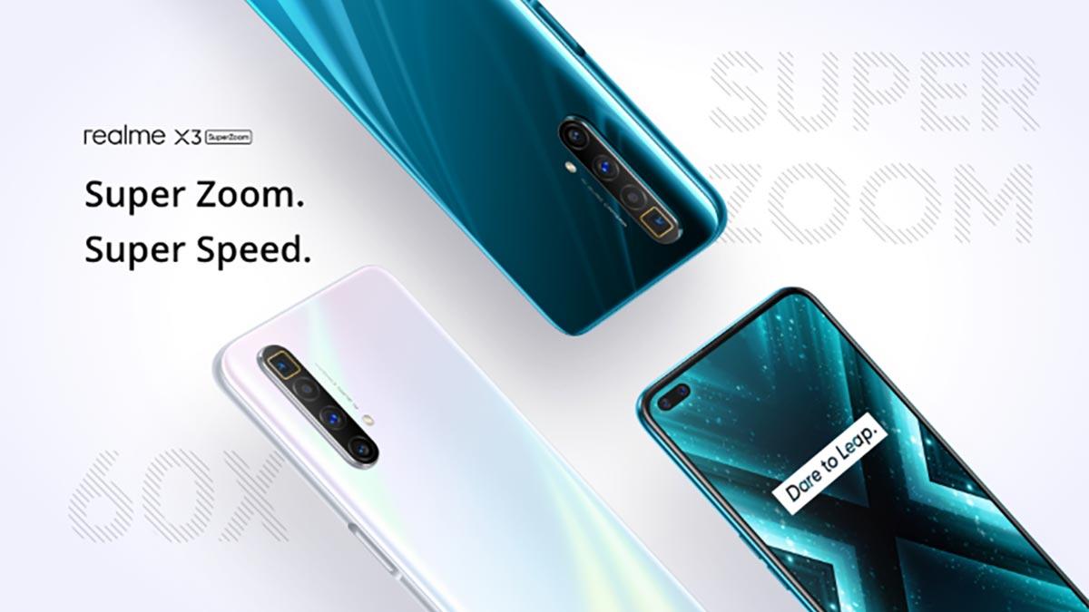Realme X3 SuperZoom ra mắt: Màn hình 120Hz, Snapdragon 855+, camera zoom 60x, giá 12.8 triệu đồng