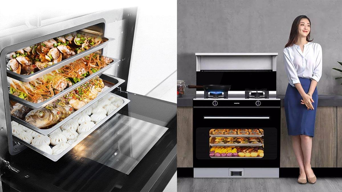 Xiaomi ra mắt bếp ga tích hợp lò nướng: Dung tích 66 lít, hút khói áp suất âm, giá 26 triệu đồng
